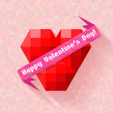 Abstract heart banner valentine day Stock Images