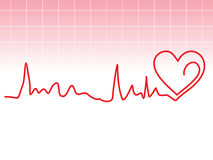 Abstract heart beat Stock Images