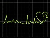 Abstract heart beat chart Stock Photo