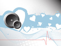 Abstract heart beat illustration Royalty Free Stock Photography