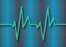 Cardiogram background Stock Photography