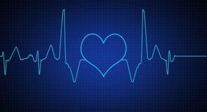 Abstract heart beats cardiogram Royalty Free Stock Photo