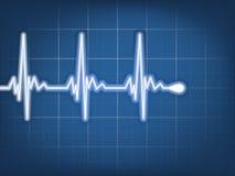 Abstract Heart Beats Cardiogram. EPS 10 Royalty Free Stock Image