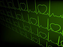 Abstract heart beats cardiogram. EPS 8 Royalty Free Stock Photography
