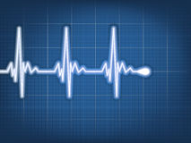 Abstract heart beats cardiogram. EPS 10 Royalty Free Stock Image