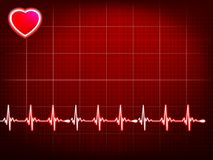 Abstract heart beats cardiogram.  Royalty Free Stock Photos