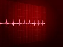 Abstract heart beats cardiogram. EPS 10 Royalty Free Stock Images