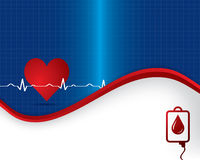Abstract heart beats cardiogram illustration Stock Photo