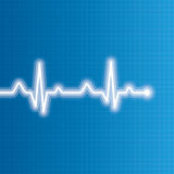 Abstract heart beats cardiogram illustration Stock Image