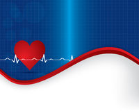 Abstract heart beats cardiogram illustration Royalty Free Stock Images
