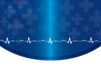 Abstract heart beats cardiogram illustration Royalty Free Stock Photo