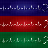 Abstract heart beats cardiogram illustration . Royalty Free Stock Photos