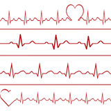 Abstract heart beats cardiogram illustration . Stock Photos