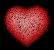 Abstract Heart on black Royalty Free Stock Photo