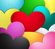 Abstract heart blank background Royalty Free Stock Photo