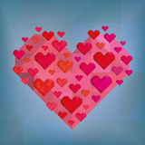 Abstract Heart On Blue Background Royalty Free Stock Photos