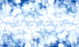 Abstract heart blue bokeh wallpaper Royalty Free Stock Images