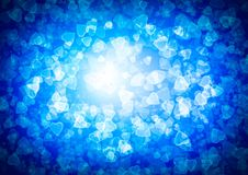 Abstract heart blue color bokeh wallpaper Royalty Free Stock Image