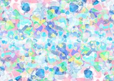 Abstract heart blue purple green colorful bokeh wallpaper Royalty Free Stock Images