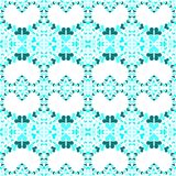 Blue loving hearts seamless pattern. Abstract heart blue sequins in various sizes pattern background. Seamless texture pattern Stock Image