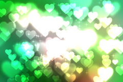 Abstract heart bokeh bright background Royalty Free Stock Photography