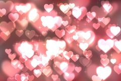 Abstract heart bokeh bright background Stock Images