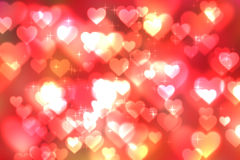 Abstract heart bokeh bright background Stock Photo