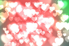 Abstract heart bokeh bright background Stock Photography
