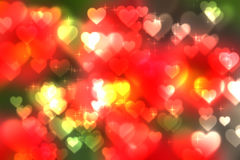 Abstract heart bokeh bright background Royalty Free Stock Photos