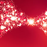 Abstract heart bokeh bright background Royalty Free Stock Image