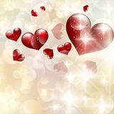 Abstract heart bokeh bright background. EPS 10 Stock Photography