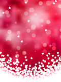 Abstract heart bokeh bright background. EPS 8 Stock Photo