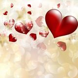 Abstract heart bokeh bright background. EPS 10 Stock Image