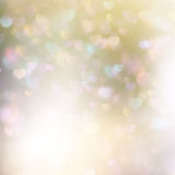 Abstract heart bokeh bright background. EPS 10 Royalty Free Stock Photography