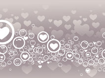 Abstract Heart bubbles Royalty Free Stock Image