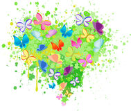 Abstract heart butterfly vector Stock Photos