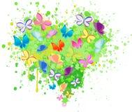 Abstract heart butterfly vector Stock Photos