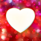 Abstract heart card in red Royalty Free Stock Image