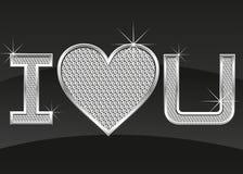 Abstract heart card witn diamonds Royalty Free Stock Photos
