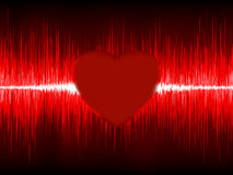 Abstract Heart cardiogram. EPS 8 Royalty Free Stock Photography