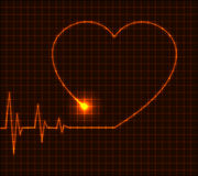 Abstract heart cardiogram illustration - vector Stock Photography