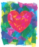 Abstract Heart Collage Royalty Free Stock Photos