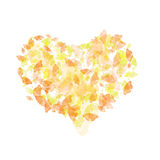 Abstract heart with color butt. Computer generated background  with color butterflies Royalty Free Stock Image