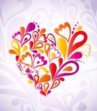 Abstract heart colorful. Vector. Heart Swirls in the Shape. Vector Illustration Royalty Free Stock Photos