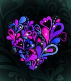 Abstract heart colorful. Vector. Heart Swirls in the Shape. Vector Illustration Stock Images