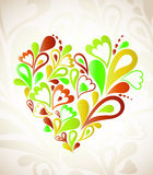 Abstract heart colorful. Vector background. Heart Swirls in the Shape. Vector Illustration Stock Image