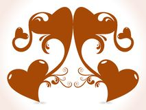 Abstract heart creative design. This image is a illustration Abstract heart creative design vector illustration