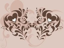 Abstract heart creative design. This image is a illustration Abstract heart creative design background stock illustration