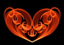 Abstract heart curl line unusual bright background illustration Royalty Free Stock Photos