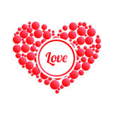 Abstract heart. Declaration of love. Used for postcards, stickers, banners and so on. Vector illustration Royalty Free Stock Photo